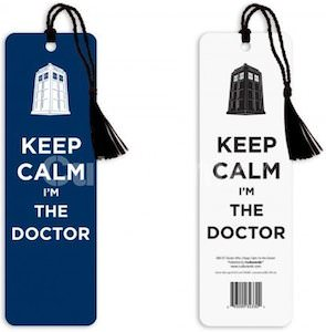Doctor Who Keep Calm I'm The Doctor Bookmark