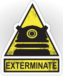 Doctor Who Dalek Exterminate Sticker