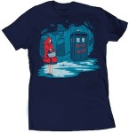 Red Riding Hood And Bad Wolf Tardis T-Shirt