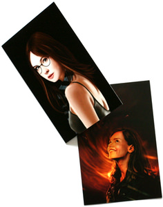 Doctor Who greeting cards with amy and clara