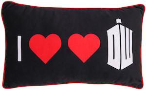 I Heart Heart Doctor Who Pillow