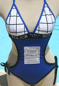 Tardis One Piece Bathing Suit