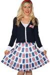 Doctor Who Tardis And Union Jack Skirt