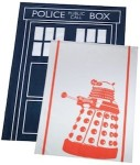 Doctor Who towel set with Tardis and Dalek
