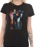 Dr. Who 12th Doctor With Galaxy And Tardis Girls T-Shirt