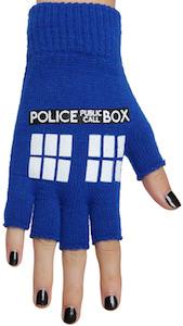 Dr. Who Tardis Fingerless Gloves