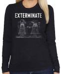 Dr. Who Dalek Exterminate Women's Long Sleeve Shirt