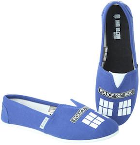 Tardis Canvas Slip On Shoes