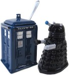 Dr. Who Tardis vs Dalek Cream And Sugar Set