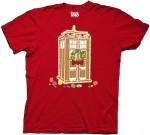 Doctor Who Red Gingerbread Tardis Christmas T-Shirt
