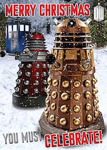 Doctor Who You Must Celebrate Dalek Christmas Greeting Card with sound