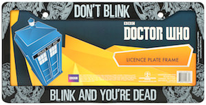 Dr Who Weeping Angel Licence Plate Frame
