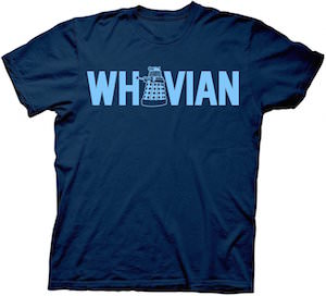 blue Doctor Who Dalek Whovian T-Shirt
