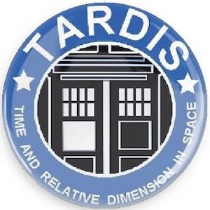 Doctor Who 1 inch Tardis Button