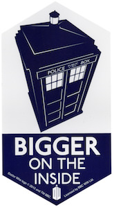 Doctor Who Tardis Bigger On The Inside Sticker