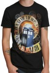 Dr Who Tardis Moving Through Time T-Shirt