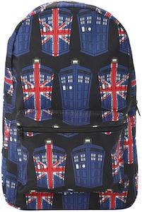 Tardis Union Jack Backpack