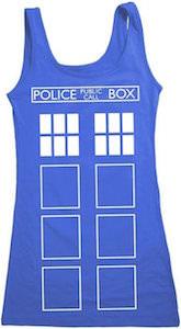 Doctor Who Tardis Women's Costume Tank Top