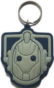 Doctor Who Cyberman Rubber Key Chain