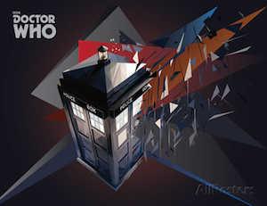 Doctor Who Tardis Geometric Poster