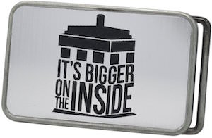 Doctor Who Tardis It' Bigger On The Inside Belt Buckle