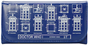 Doctor Who Tardis Blue Print Wallet