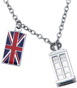 Doctor Who Tardis Union Jack Necklace