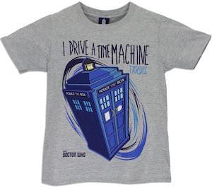 Doctor Who I Drive A Time Machine Tardis Kids T-Shirt