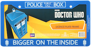 Dr Who Tardis Bigger On The Inside Licence Plate Frame