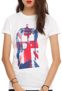 Doctor Who Union Jack Tardis Women's T-Shirt