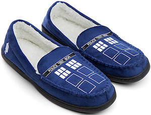Doctor Who Tardis Moccasin Slippers
