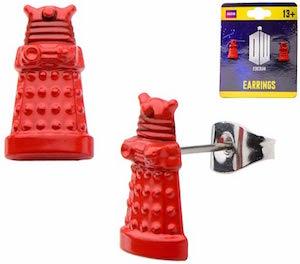 Doctor Who 3D Red Dalek Earrings