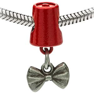 Bow Tie And Fez Bracelet Charm