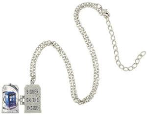 Tardis Bigger On The Inside Locket Necklace