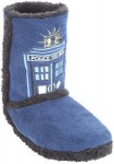 Doctor Who Tardis Image Slipper Boots