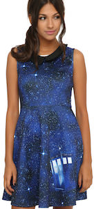 Women's Doctor Who Tardis Galaxy Dress