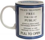 Doctor Who Tardis Door Sign Ceramic Mug