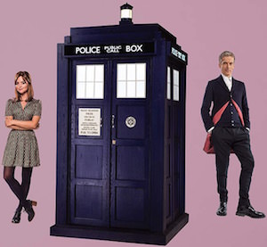 The Tardis, Clara And The Doctor Wall Decal Set