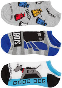 Dalek, Tardis And K-9 Socks