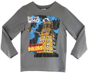 Return Of The Daleks Kids Long Sleeve T-Shirt