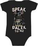 Baby bodysuit with Dalek on it