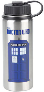 Stainless Steel Tardis Wide Mouth Water Bottle