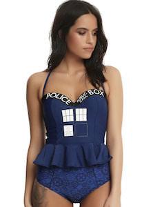Doctor Who Tardis bikini set