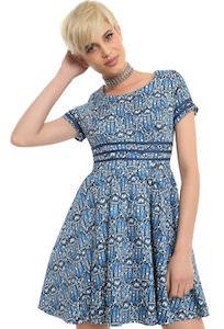 Blue Tardis All Over Dress