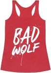 Doctor Who Women's Red Bad Wolf Tank Top