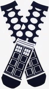 Doctor Who Tardis And Dalek Dots Socks