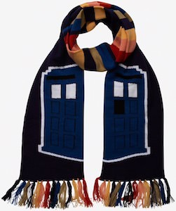 Tardis And Tassels Scarf