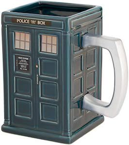 Square Tardis Mug