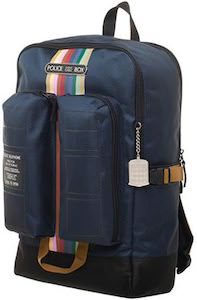 Doctor Who Tardis And Stripes Backpack