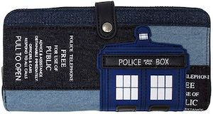 Tardis Denim Look Wallet